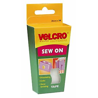Pack of VELCRO® Brand White Sew On Tape 20mm x 1M (60298)By Caraselle