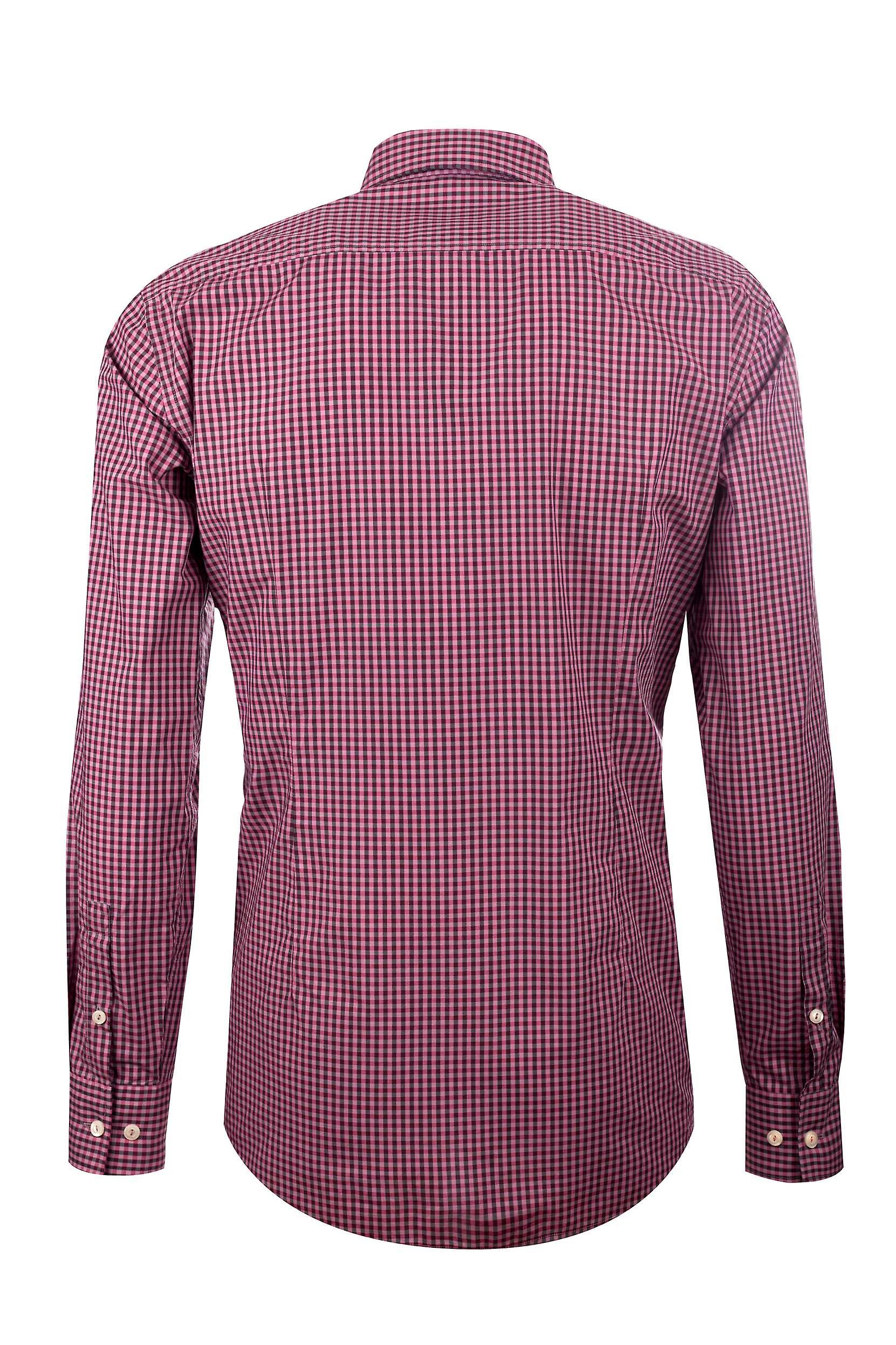 Fabio Giovanni Petrucci Shirt - Mens High Quality Italian Poplin Cotton Classic Check & Button-Down Collar Shirt