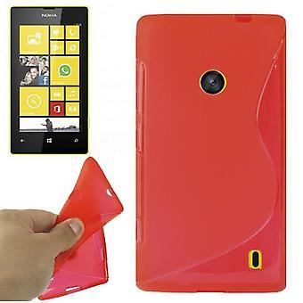 Etui TPU cas pour mobile Nokia Lumia 520 rouge