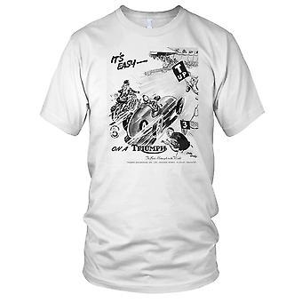 Te på en triumf klassiske motorsykkel Biker Mens T skjorte