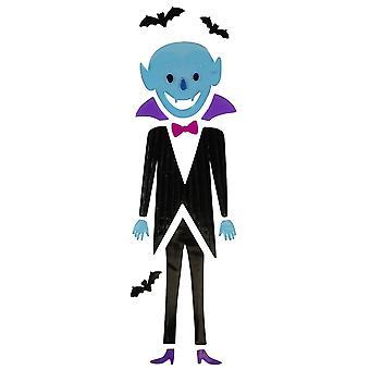 Etiqueta de la ventana de Halloween Gel - Dracula