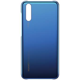 Original Huawei glossy cover, mirror case for Huawei P20 – Dark blue