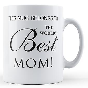 Weltbesten Mama bedruckte Becher