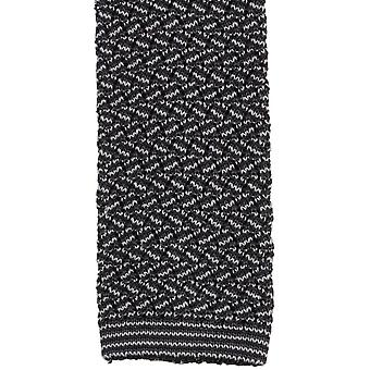 KJ Beckett Suzy Chevron Silk Tie - Grey/Black