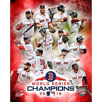 Boston Red Sox 2018 World Series Champions Composite Photo Print