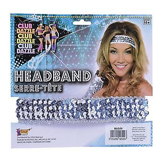 Bnov Sequin Headband Silver