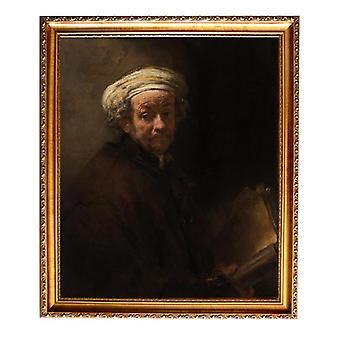 Med ram Self-portrait as,REMBRANDT Harmenszoon van Rijn,60x50cm
