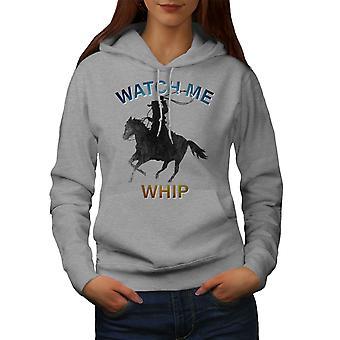 İzle Me Whip Kadın GreyHoodie   Wellcoda