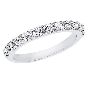 LXR 14K White Gold .77ct Diamond Band Ring
