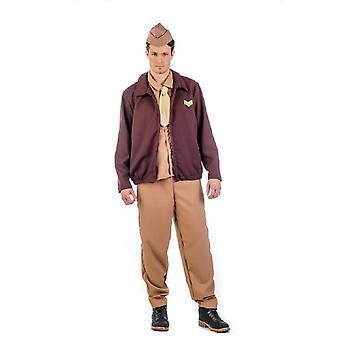 Vintage soldado Señor traje Avitor 20s aviador piloto traje de los hombres