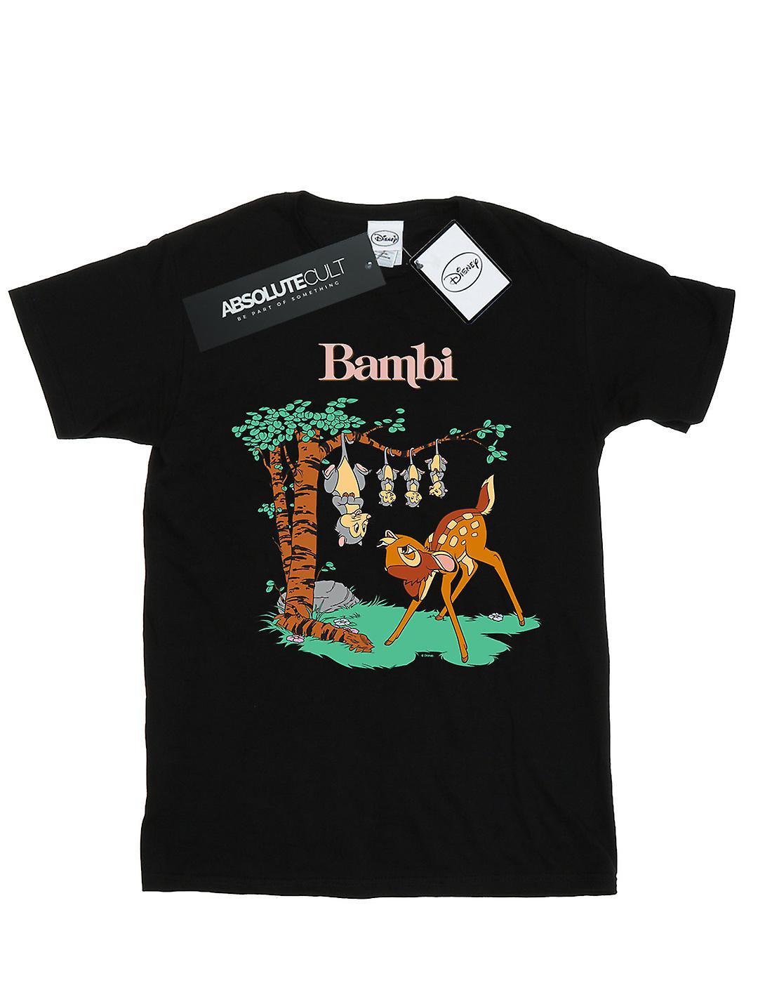 Disney Women's Bambi Tilted Up Boyfriend Fit T-Shirt