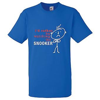 Мужчины я бы скорее смотреть снукер футболка Королевский синий