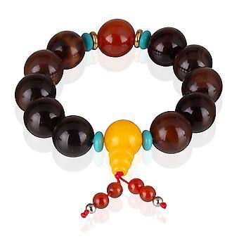 Skeppare armband pärlor från naturlig sten armband elastiskt Brown 7783