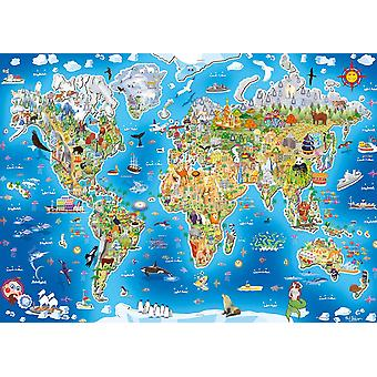 Gibsons Jigmap Jigsaw Puzzle - unsere Welt (250 Stück)
