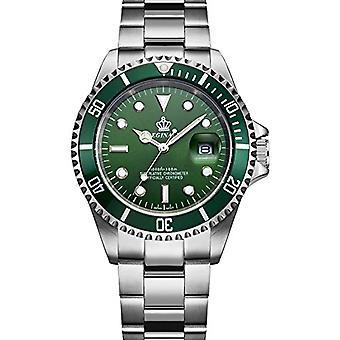 Reginald Mens Homage Watch Silver Green Man Smart Watches Designer Gift Present