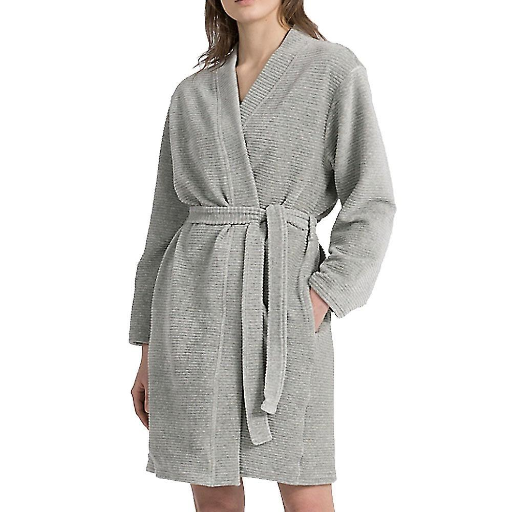 Calvin Klein Women Calvin Klein Women Quilted Robe, Grey, X-Small - Small