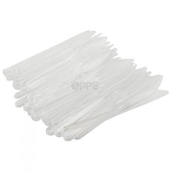 Pack of 50 Heavy Duty Plastic Knives Clear Party Picnic Cutlery