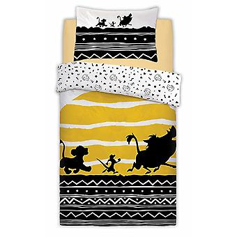 Lion King Tribal Sunrise Single Duvet Cover Set