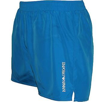 Emporio Armani Ultra Light Swim Shorts, Turquoise Blue