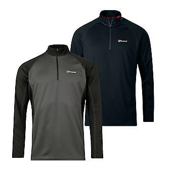 Berghaus Tech 2.0 1/2 Zip Mens Long Sleeve Base Outdoor T-Shirt