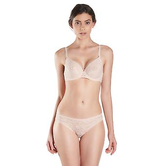 Aubade HK15 Women's Rosessence Nude D'ete Floral Lace Padded Underwired Half Cup Bra