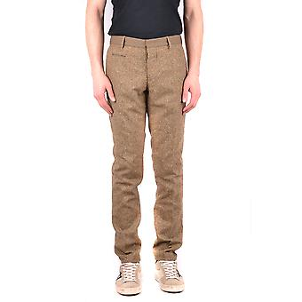 Incotex Ezbc093032 Men's Brown Wool Pants