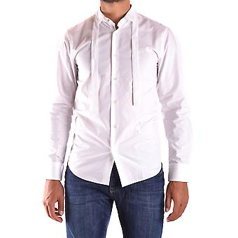 John Richmond Ezbc082109 Men's White Cotton Shirt