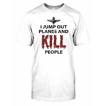 Ich direkt aus Flugzeugen und töten Menschen - Fallschirm RegiKidst Kinder T Shirt