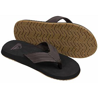 Quiksilver Mens Monkey Wrench Sandals - Black/Gray/Brown
