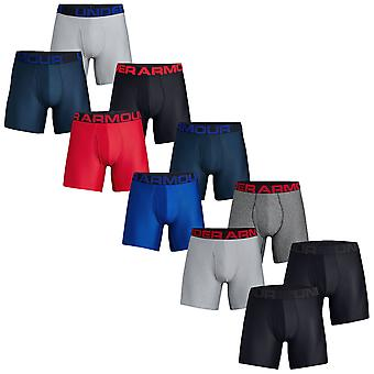 Under Armour Herre Tech 6in 2 Pack Soft Comfort Stretch Performance Boxers