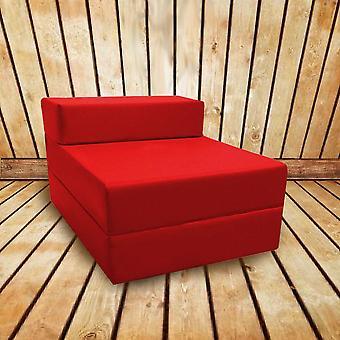 Confortável Fold Out Z Bed Chair em vermelho. Macio, confortável e leve com uma tampa impermeável retirável. Disponível em 10 Cores.