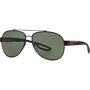 Prada SPS55Q wide Rubber Black polarized Green