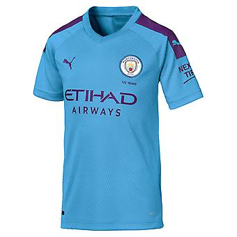 Puma Manchester City 2019/20 Kids Short Sleeve Home Football Shirt Blue