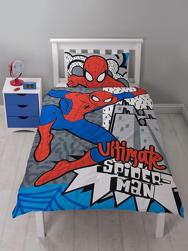 Spiderman Hang Single Duvet Cover and Pillowcase Set