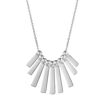 Eternal Collection Palladium Silver Tone Links Fashion Necklace