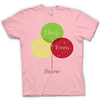 Womens T-shirt - Deep Crisp Even Snow - Funny