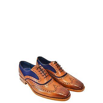 Barker Mcclean Calf Snuff Suede Shoe Cedar Calf/navy Suede