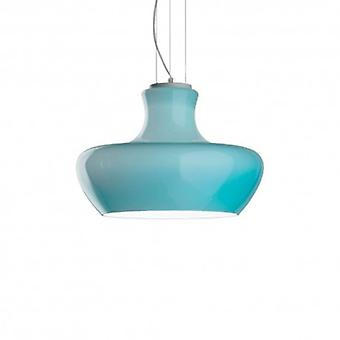 1 Léger Petit Dome Plafond Pendant Bleu