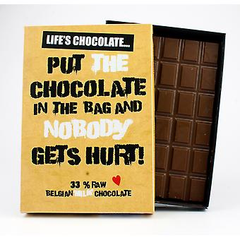 Funny Boxed Chocolate Quote Gift For Men Women Best Friend Greeting Card for Him or Her LC102