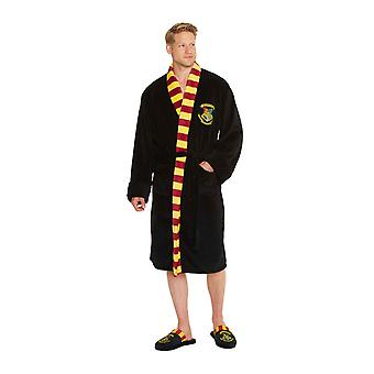 Harry Potter Bathrobe Hogwarts School crest new Official Mens Black
