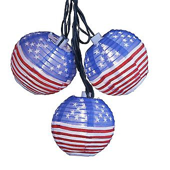 USA Patriotic Lantern Light String Set