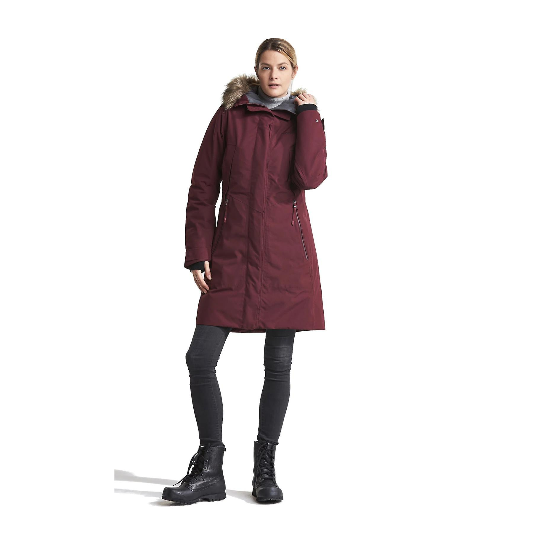 Didriksons Mea Womens Padded Parka | Anemon Red