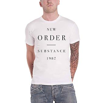 New Order T Shirt Substance 1987 Band Logo new Official Mens White