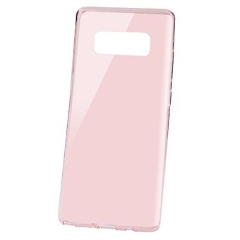 MYBAT glanzende transparante Rose Gold Candy Skin cover voor Galaxy Note 8
