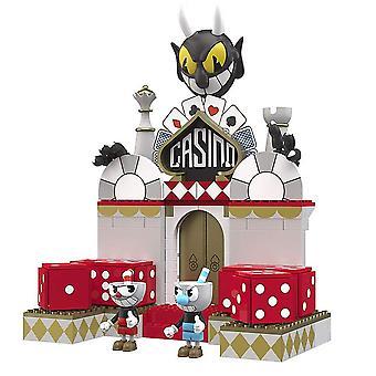 Cuphead Construction Set Devil-apos;s Casino Kit, coloré, en plastique, 250 pièces, 2 chiffres. Fabricant: McFarlane.