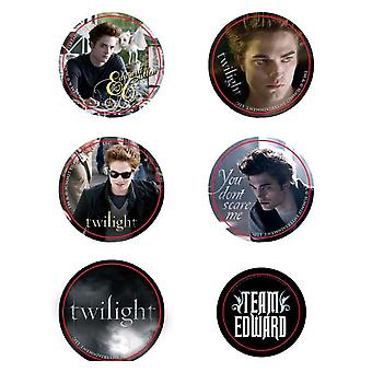 Twilight Pin Set of 6 Style D (Team Edward)