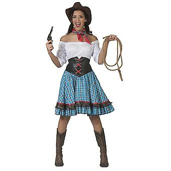 Cowgirl Short Women's Costume Westernlady Wild West Carnival Carnival Costume Ladies