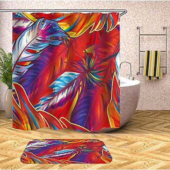 Fire kleuren veren douche gordijn