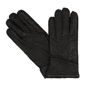 bugatti Herrenhandschuhe Handschuhe Hirschleder Schwarz 8357