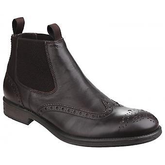 GEOX Jaylon Mężczyźni Skórzane Buty Chelsea Kawy